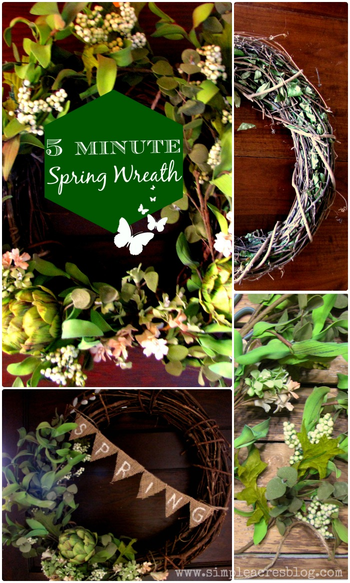 5 minute spring wreath