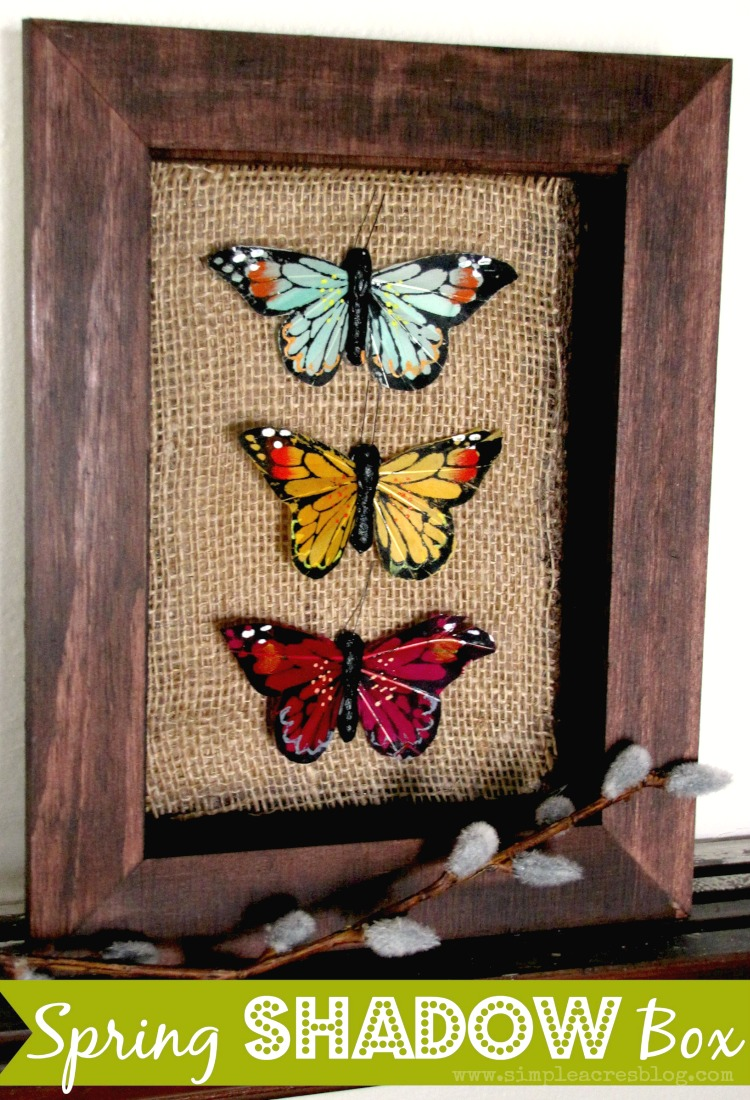 spring butterfly shadow box simple acres blog
