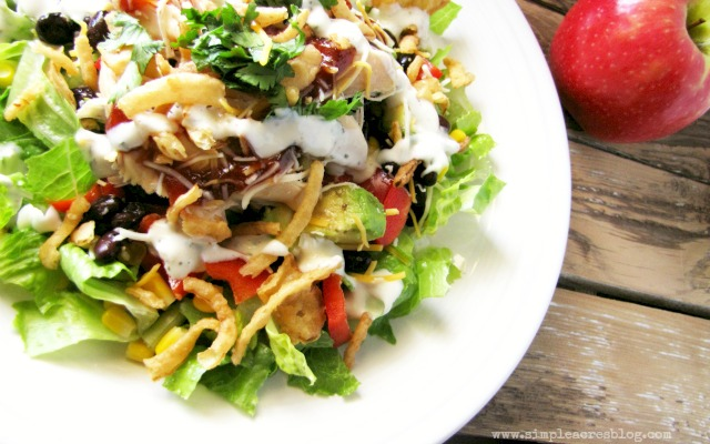 bbq salad entree