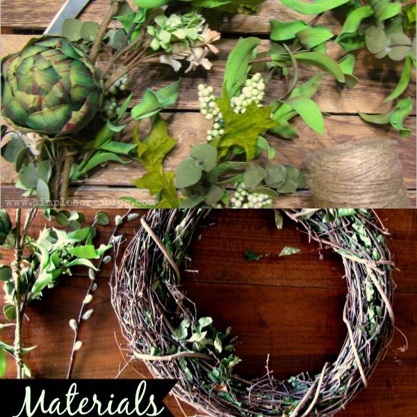 wreath diy material