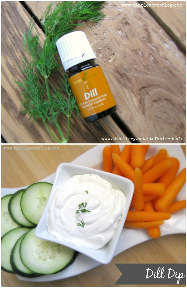 Vegetable Dill Dip to increase vegetable intake.