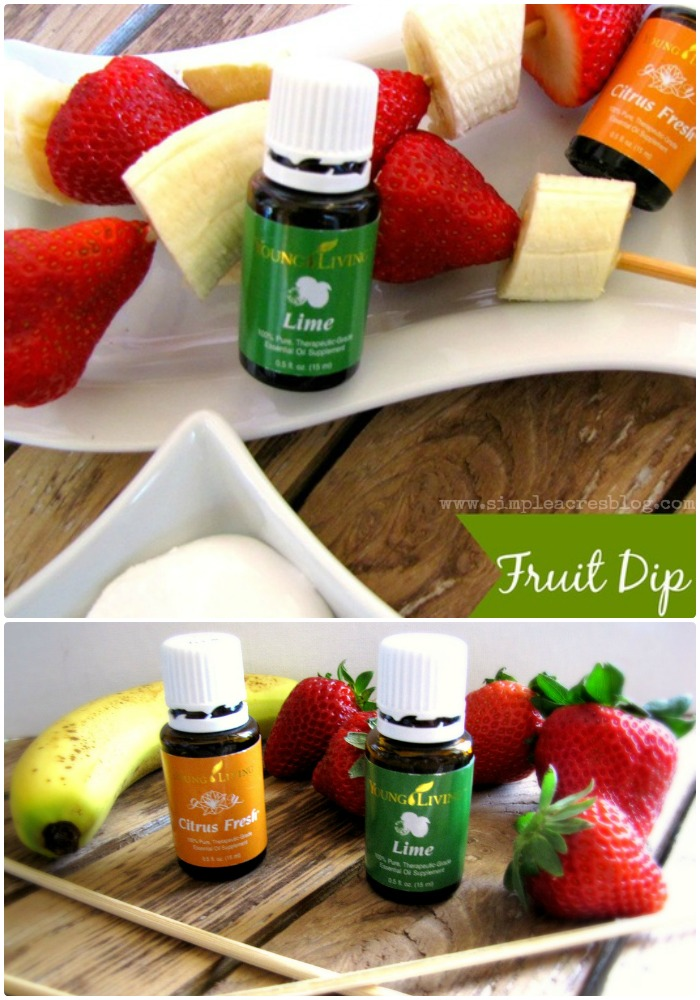 fruit dip with essential oils