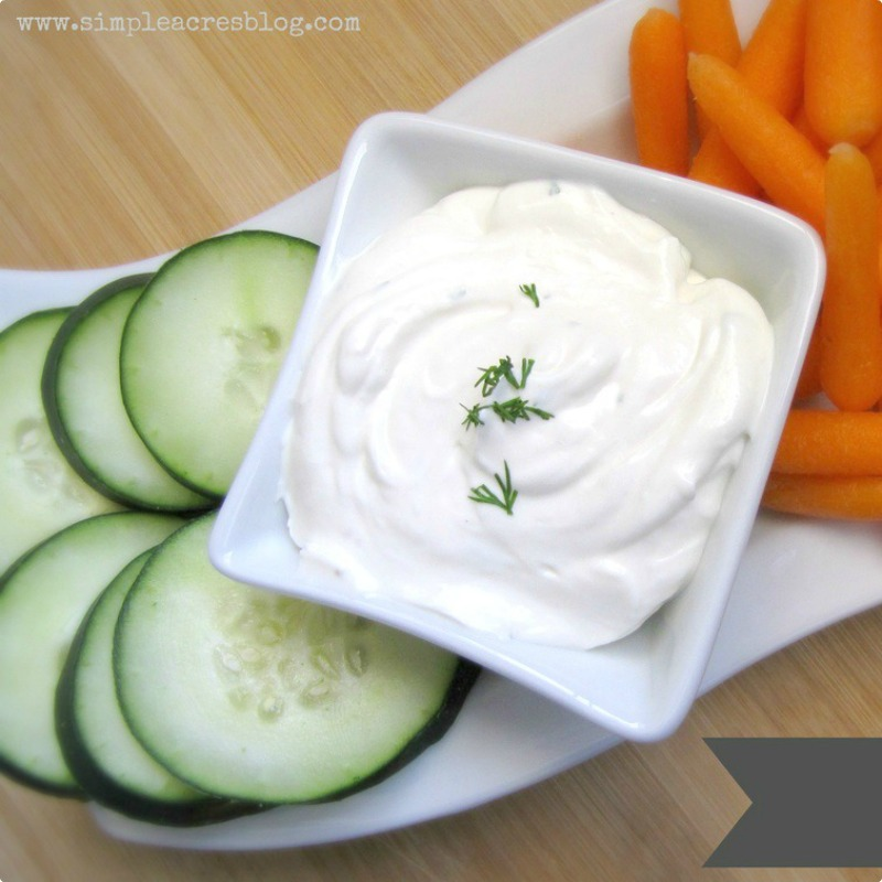 Vegetable Dill Dip with Essential Oils