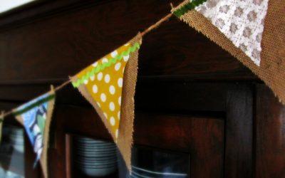 Upcycled Spring Banner DIY
