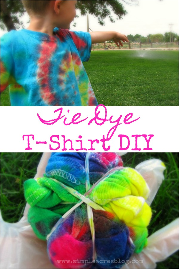 Simple Tie Dye T Shirt Diy Simple Acres Blog
