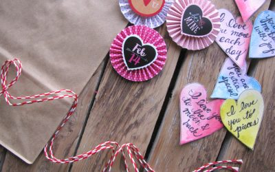 Homemade Valentine Card Bags