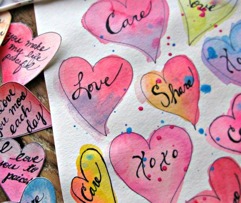 Paper Valentine's Banner