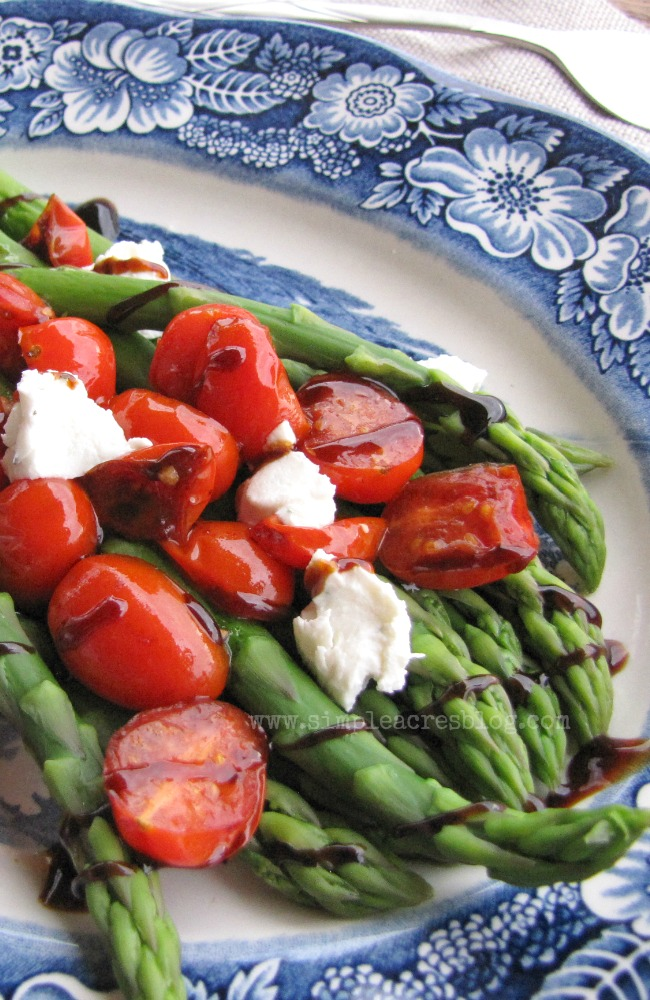 Basalmic glazed asparagus spring side dish