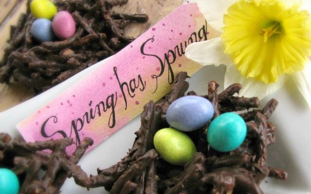 Spring Chocolate Nest Dessert