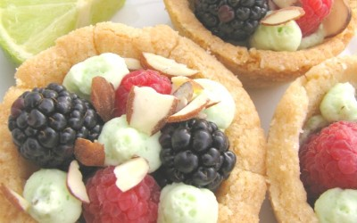 Berry Ambrosia Cookie Cups