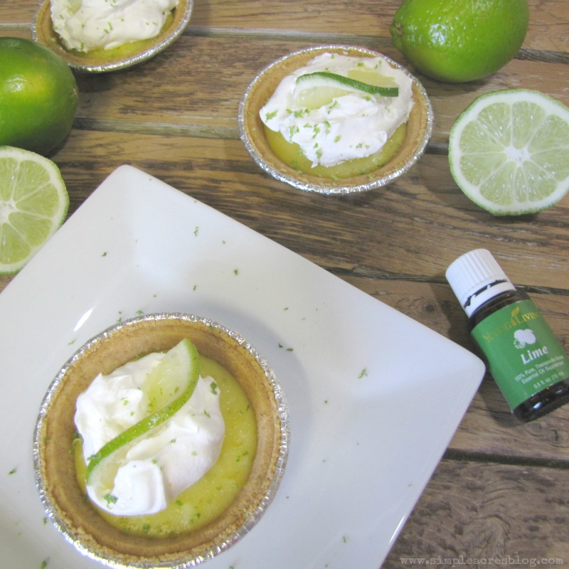 key lime pie with oils