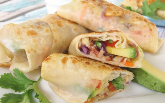 Vegetable Egg Rolls with Avocado