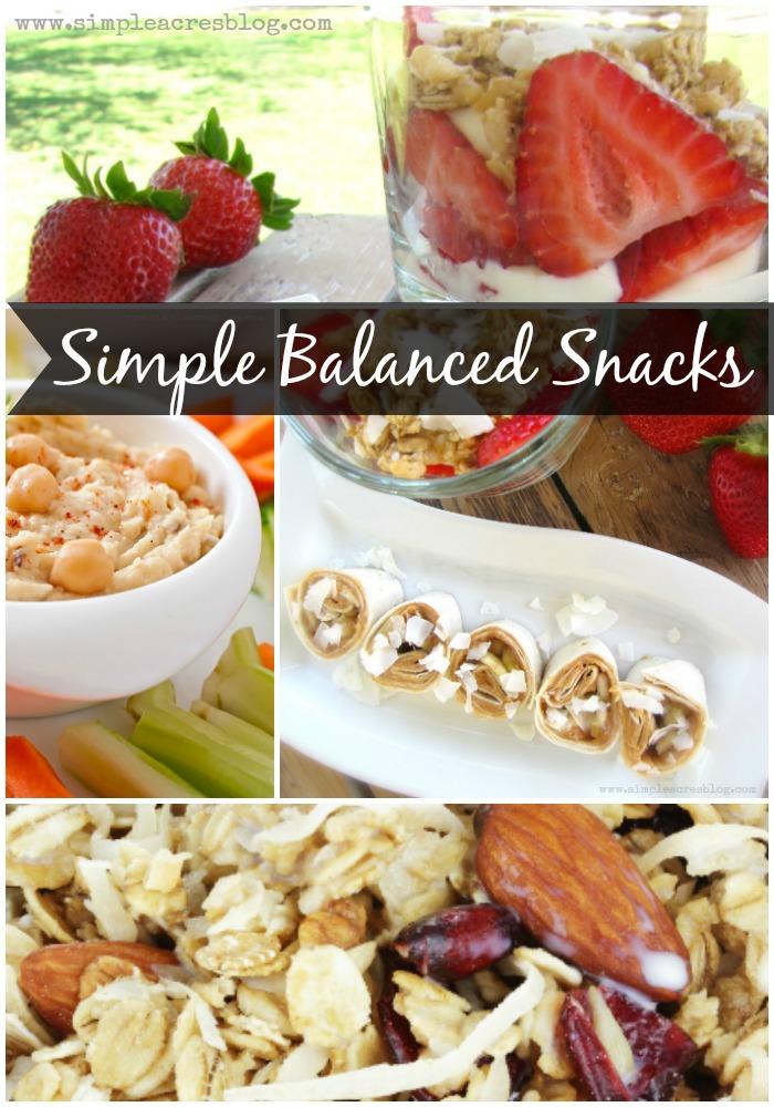 simple Balanced snacks