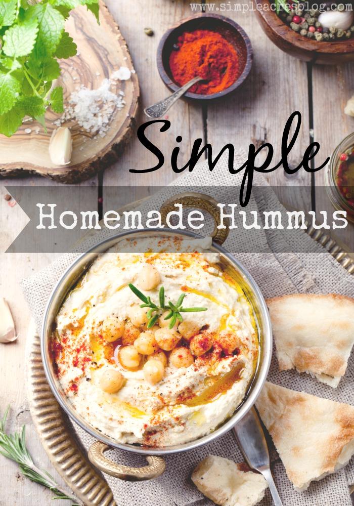 simple homemade hummus