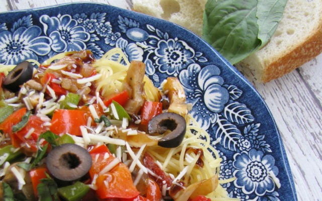 Vegetarian Marinara and Angel Hair Pasta