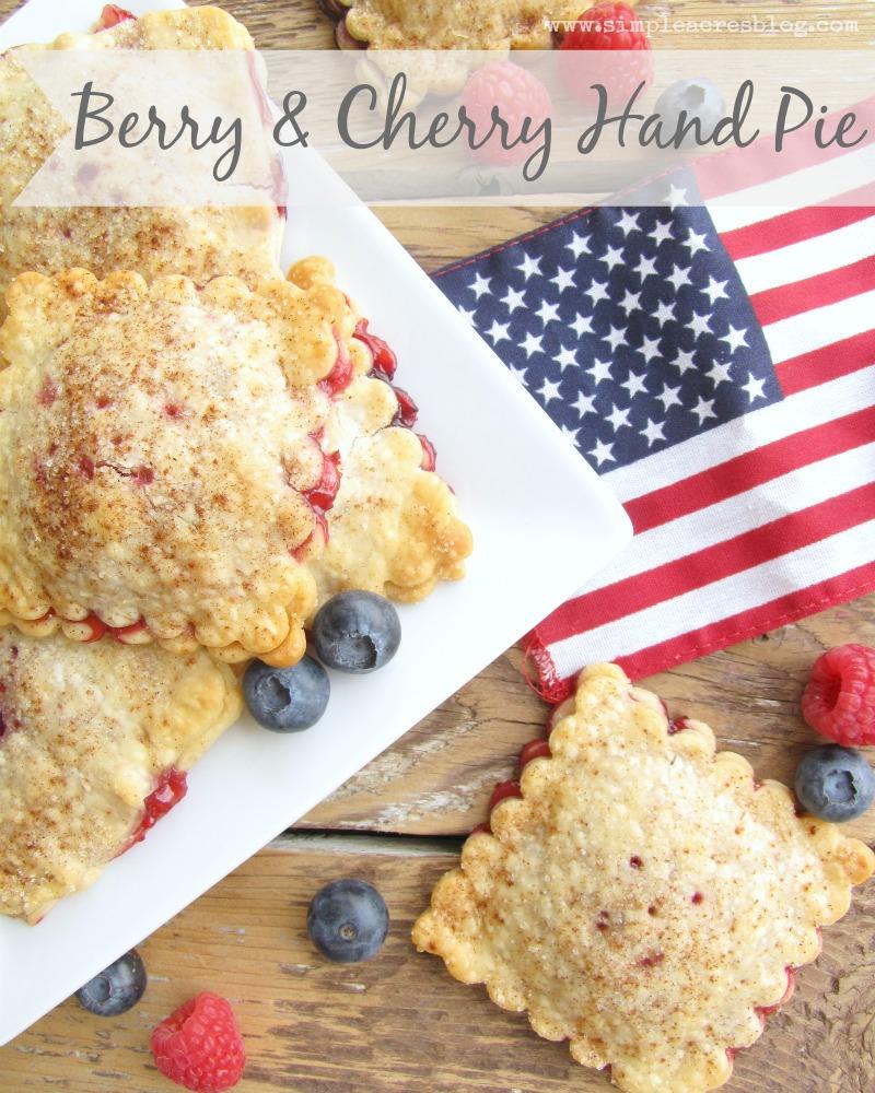berry and cherry hand pie