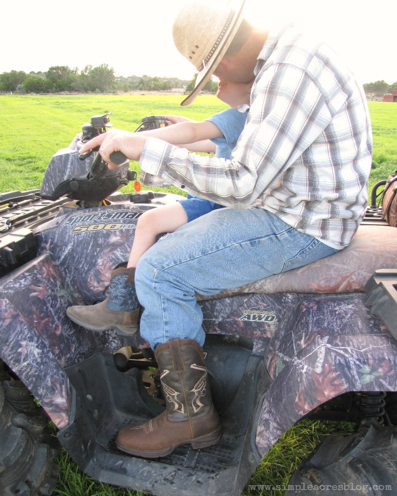 four wheeling and farming