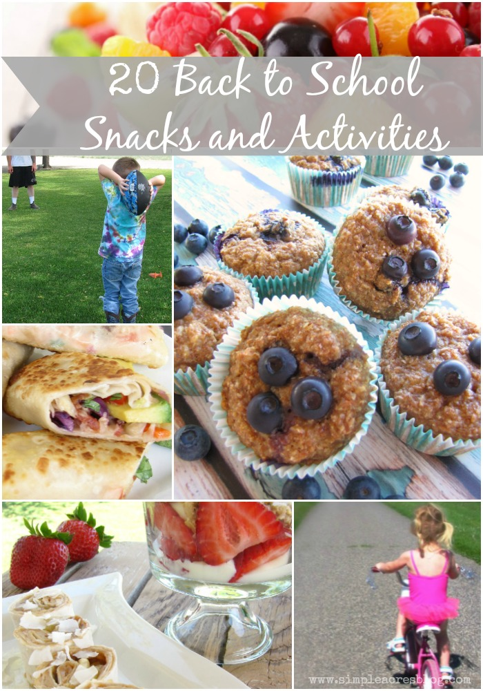 back to school snacks and activities