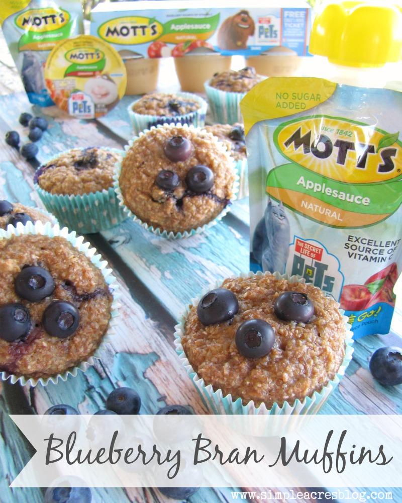 bran blueberry muffins