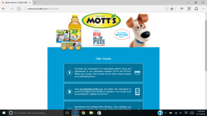 motts screen shot
