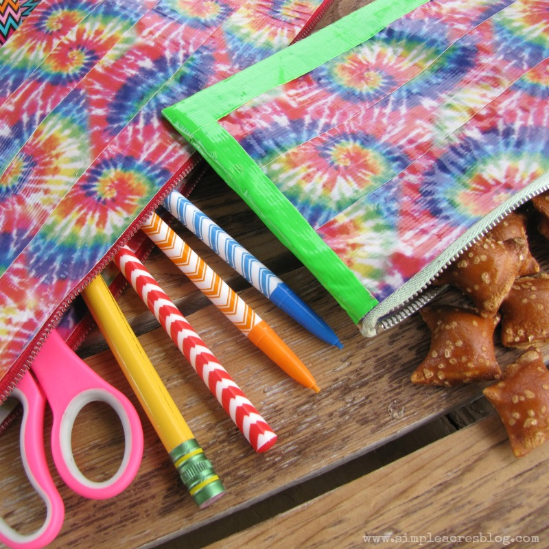 back to school upcycled duck tape bags