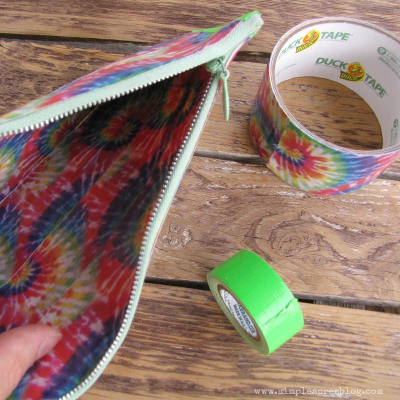 tape zipper pouch