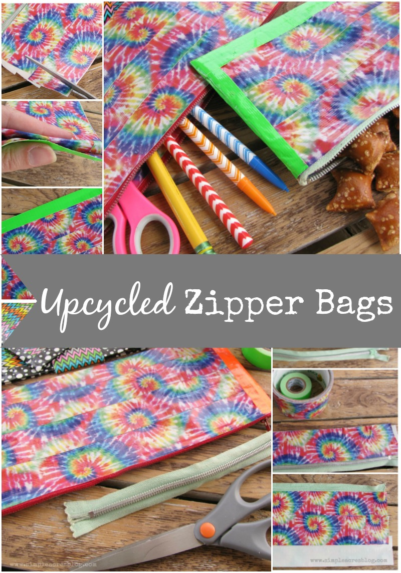 upcycled zipper bags