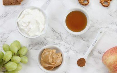 Spiced Peanut Butter Yogurt Dip