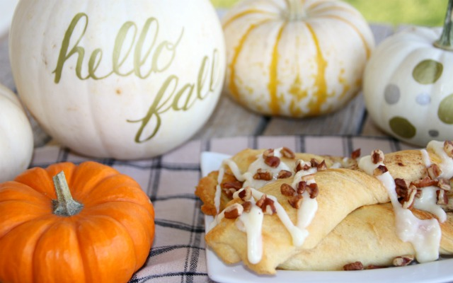 Pumpkin Spice Twist with Cream Cheese Drizzle