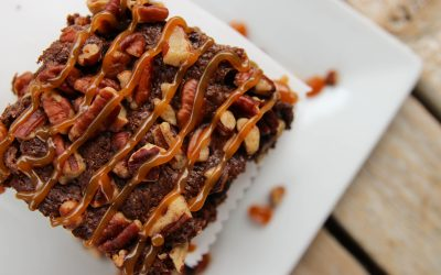Homemade Fudge Brownie with Pecan Crumble