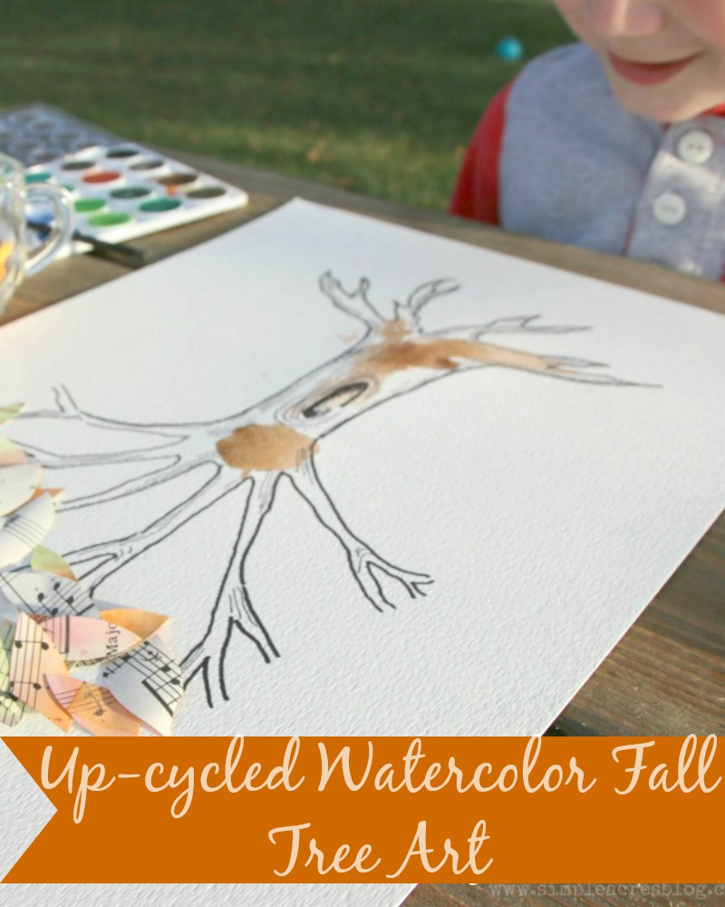 upcycled-watercolor-fall-tree-art