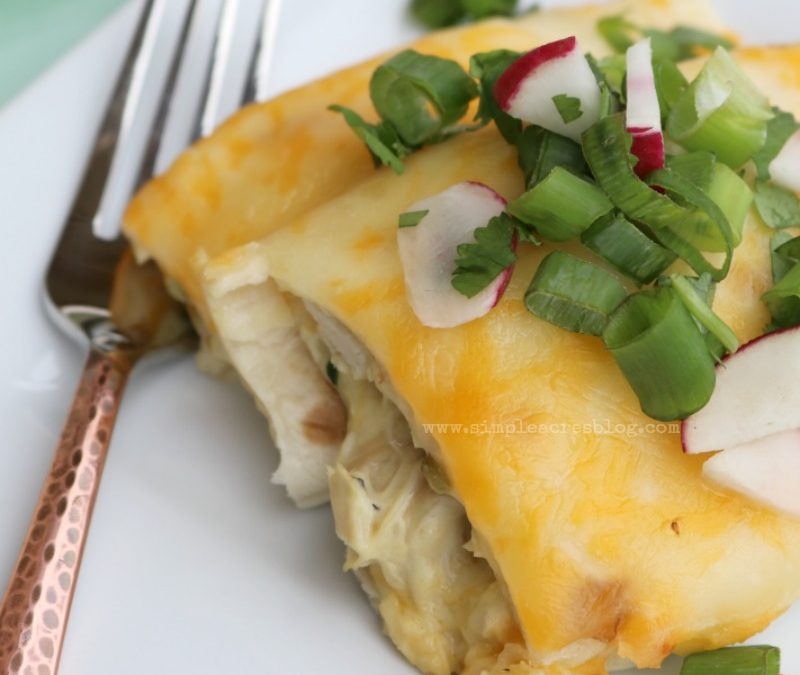 White Chicken and Spinach Enchiladas