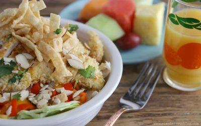 Asian Coconut Sesame Chicken Salad with Citrus Vinaigrette