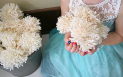Yarn Pom Pom Snowballs
