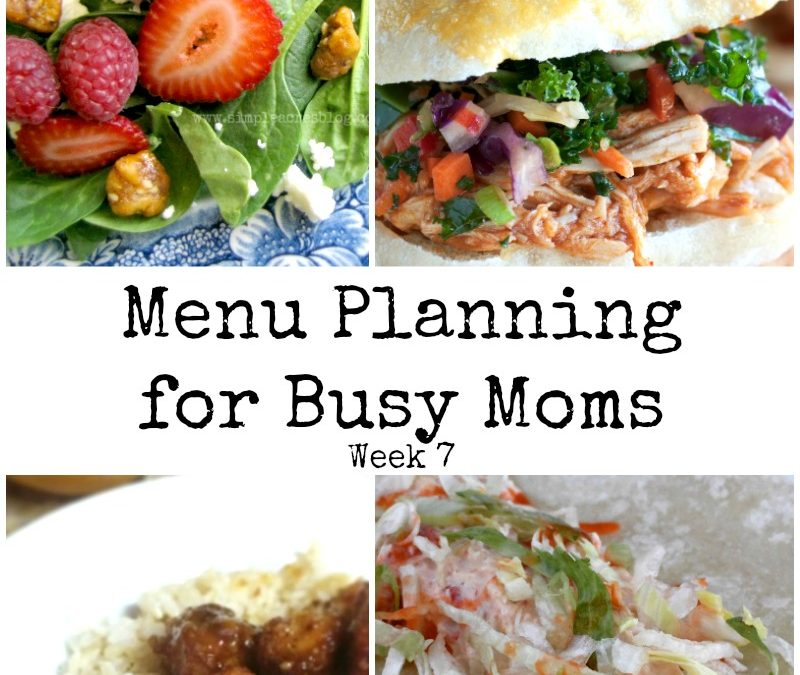 Menu Planning for Busy Moms Week 7
