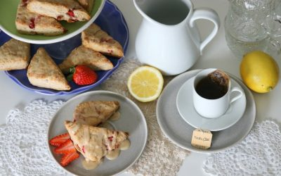 Tea Cart Makeover with Strawberry Chai Tea Scones