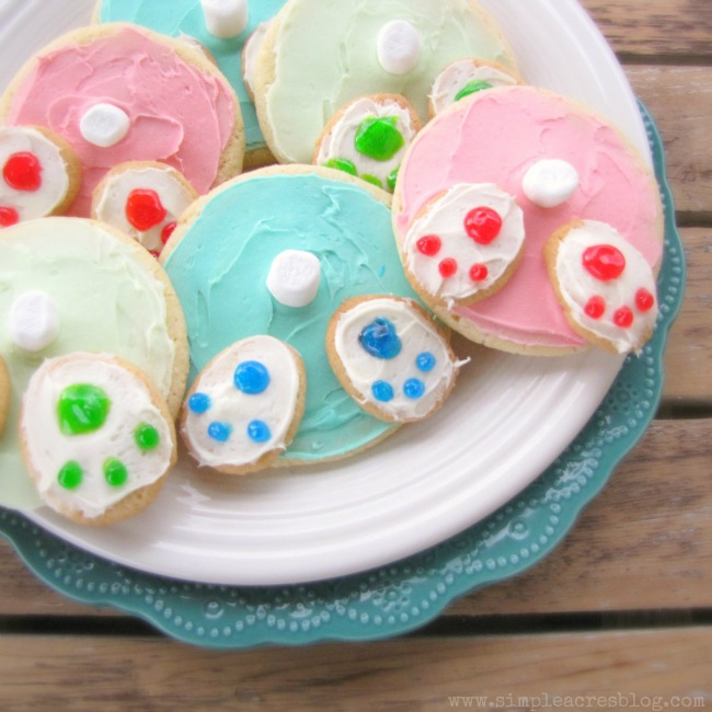 Spring Bunny Bottom Sugar Cookies