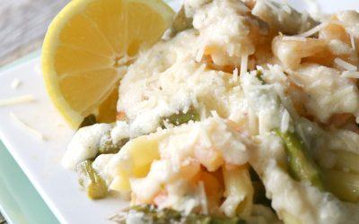 Shrimp and Asparagus Alfredo Pasta