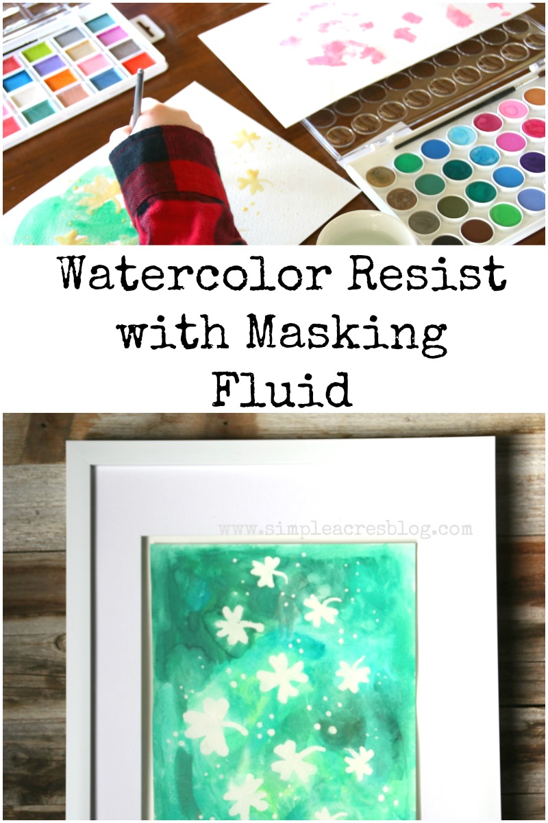 watercolor resist with masking fluid simple acres blog