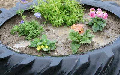 Tire Garden Planter DIY