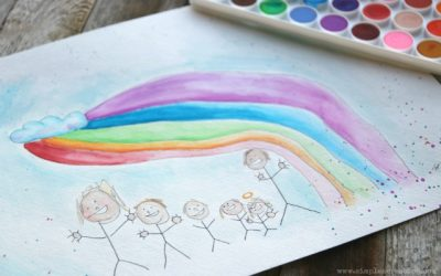 Kid's Watercolor Art Transfer