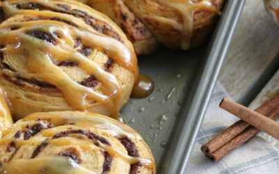 Immaculate Baking: Cinnamon Rolls with Pumpkin Spice Icing