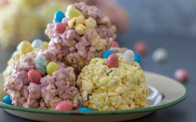 Peep Popcorn Balls