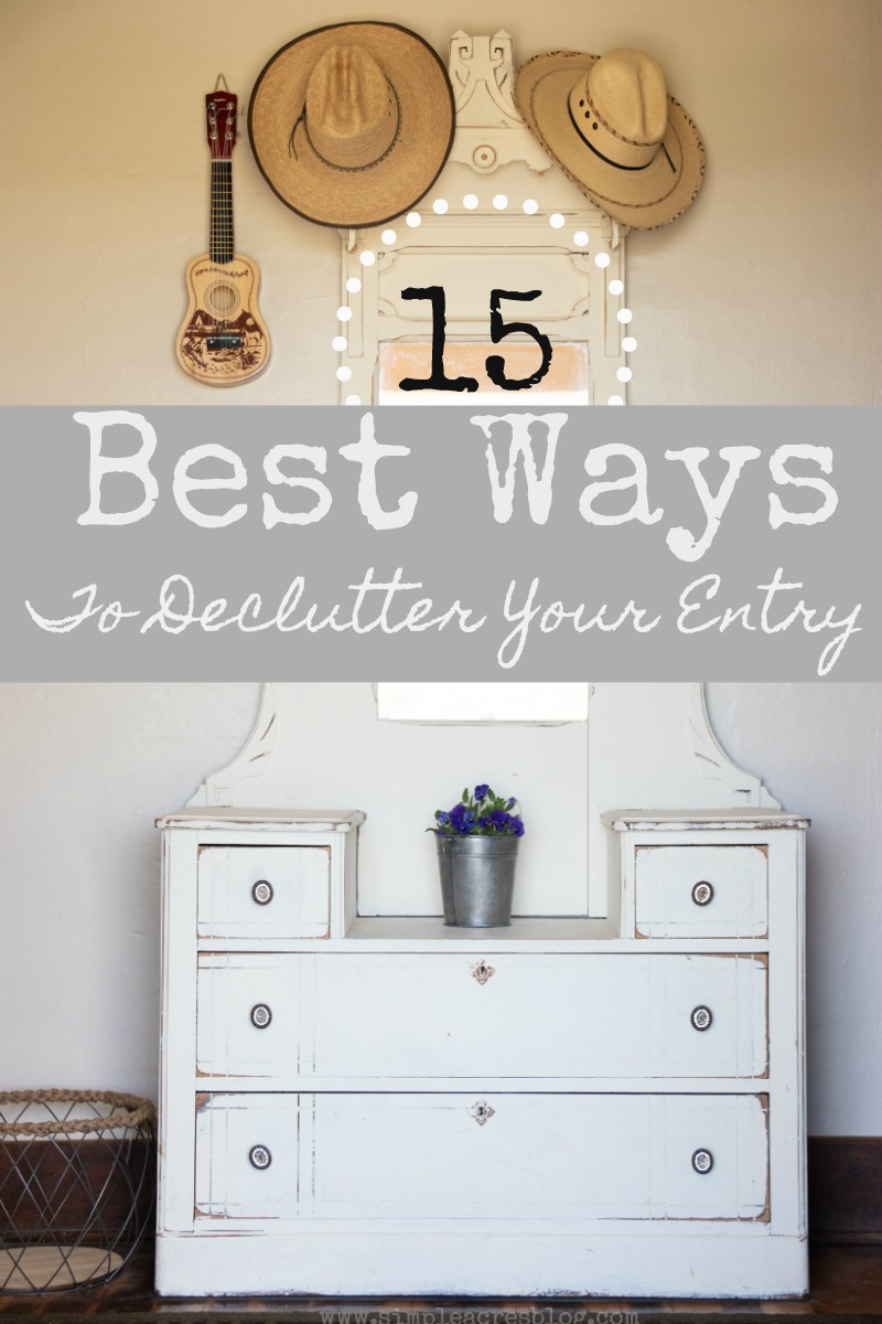 declutter your entry