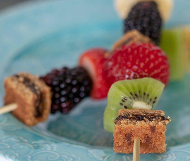 Fruit and Fig Bar Kabobs