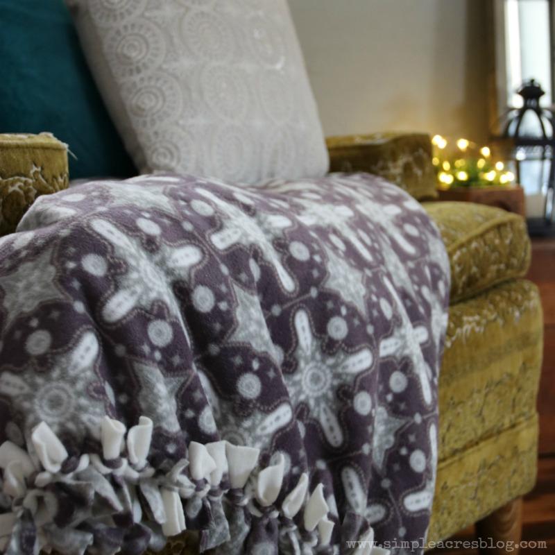 fleece knot blanket