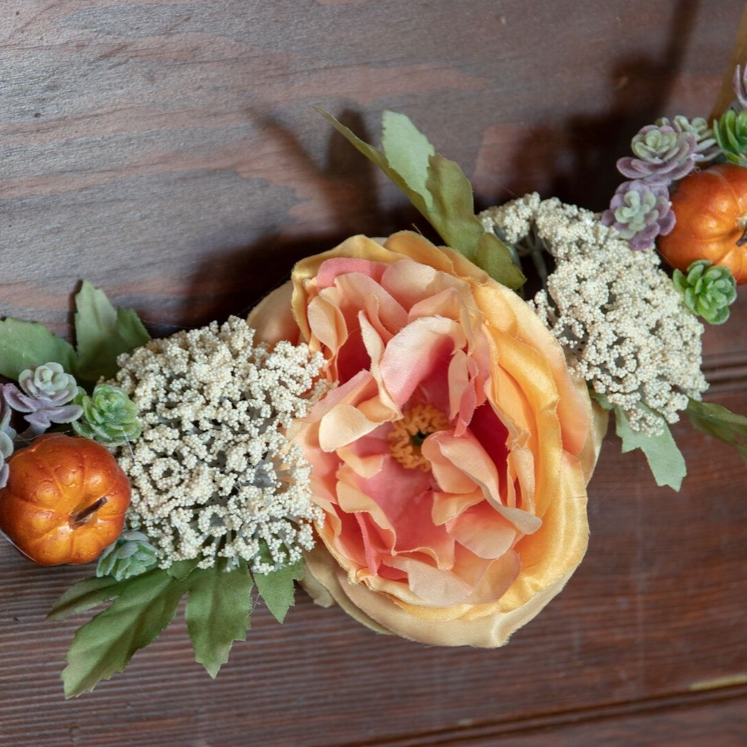 floral fall wreath