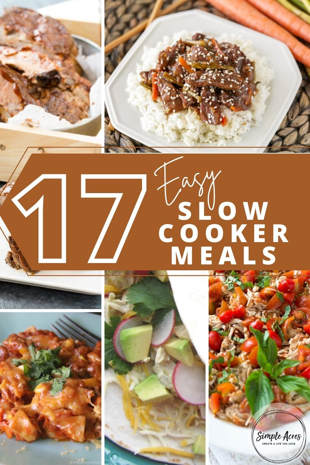 17 easy slow cooker meals